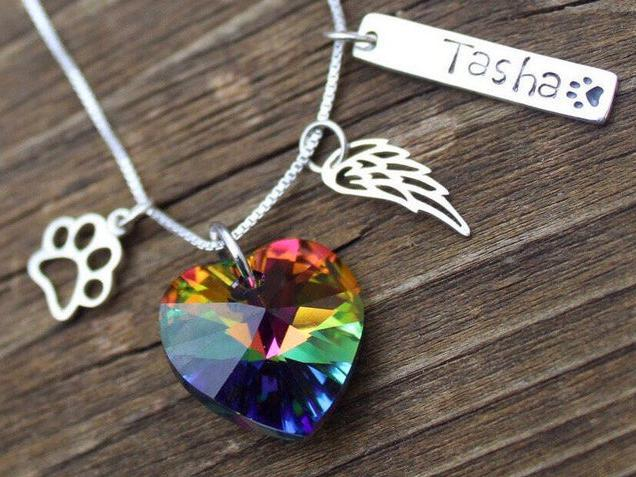 Photo of Rainbow Bridge Personalized Tag Necklace