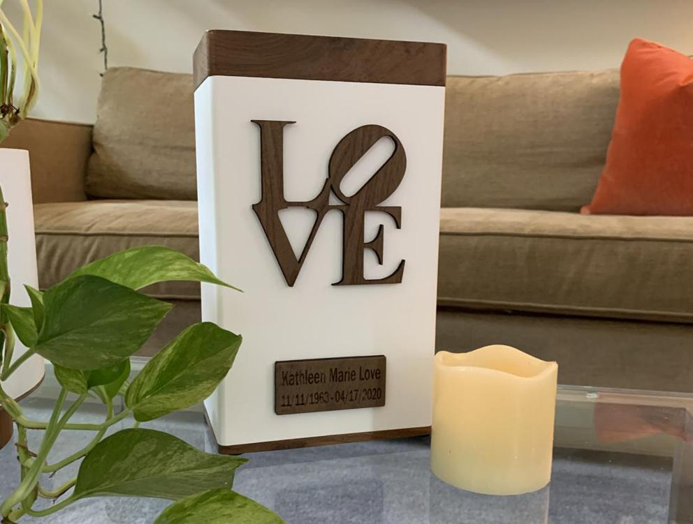 "Photo of Elevation ""LOVE"" Modern Urn"