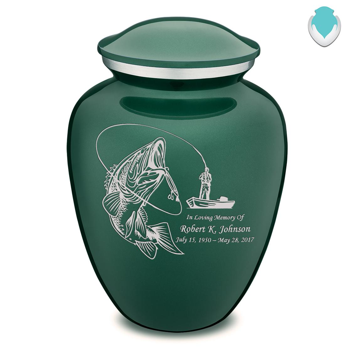 Photo of Adult Embrace Fishing Cremation Urn