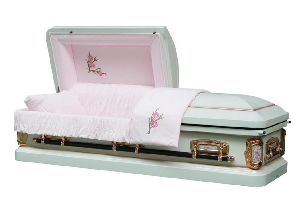 Photo of Prime Rose - White Casket with Pink Interior