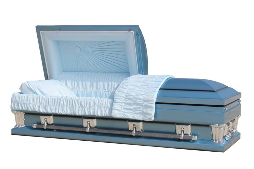 Photo of Adams Blue 28.5- Oversized Casket in Monarch Blue Finish