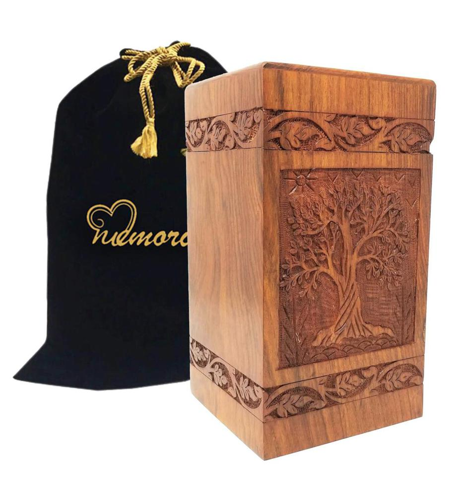 Photo of Adult Solid Rosewood Urn Cremation Urn