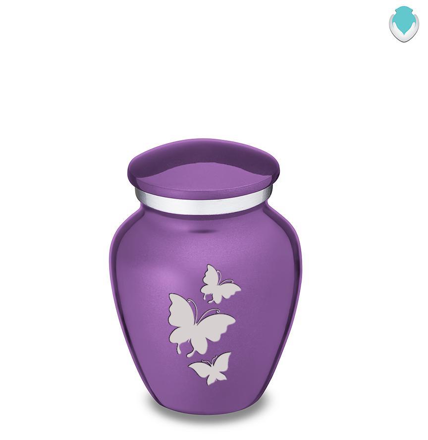 Photo of Keepsake Embrace Purple Butterfly Cremation Urn