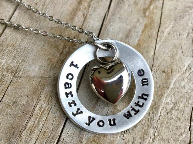 Photo of I Carry You With Me - Memorial Urn Necklace