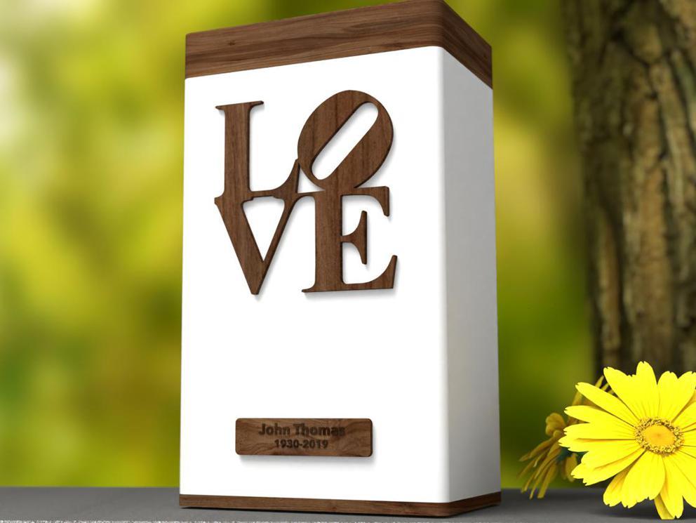 "Photo of Elevation ""LOVE"" Modern Urn"