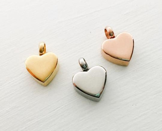 Photo of Heart Shaped Cremation Necklace - Engravable