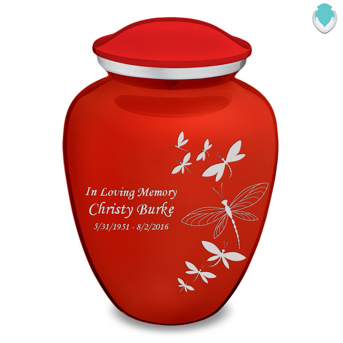 Photo of Adult Embrace Dragonflies Cremation Urn