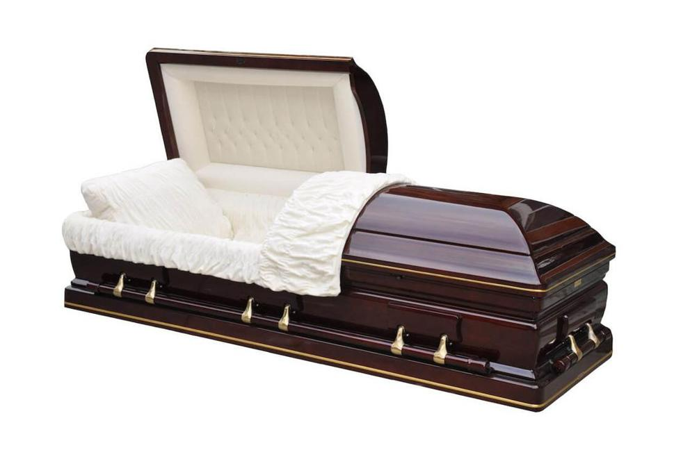 Photo of Solid Mahogany Casket - Congressman