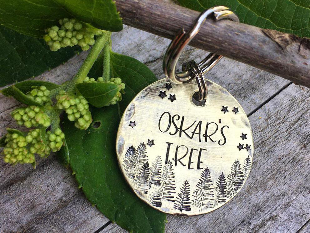 Photo of Brass Memorial Tree Tag / Tree Marker