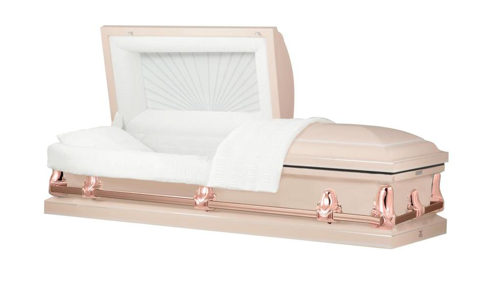 Photo of Titan Orion Series | Pink & Rose Gold Steel Casket