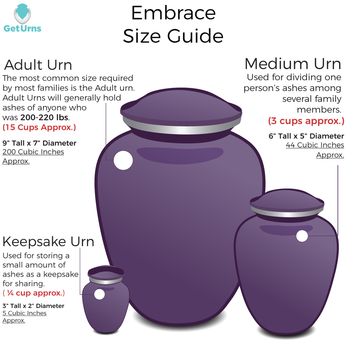 Photo of Adult Embrace Praying Hands Cremation Urn