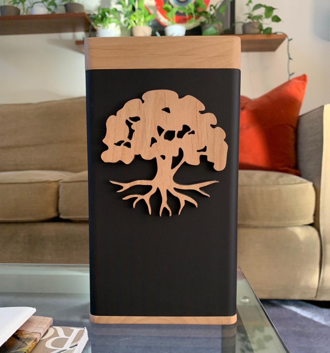 "Photo of Biography ""Tree of Life"" Modern Urn"