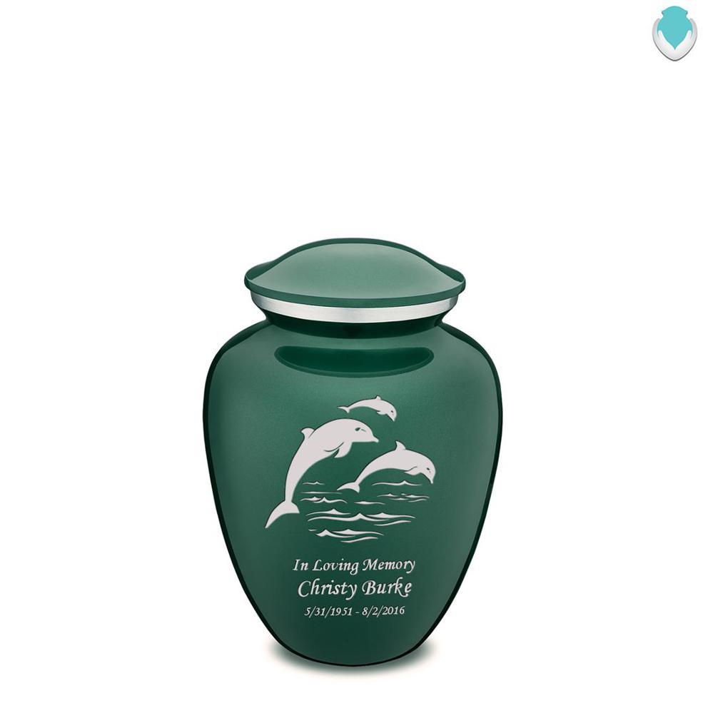 Photo of Medium Embrace Dolphins Cremation Urn