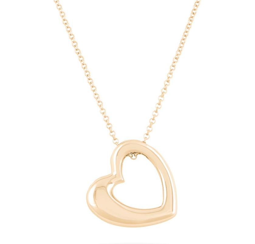 Photo of Heart Cremation Necklace - 18K Gold Plated / Made of Sterling Silver
