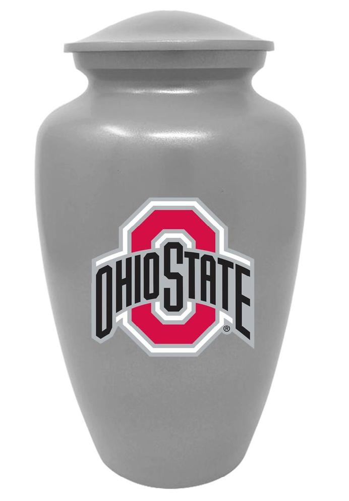Photo of Ohio State Buckeyes NCAA Licensed College Team Cremation Urn, Silver