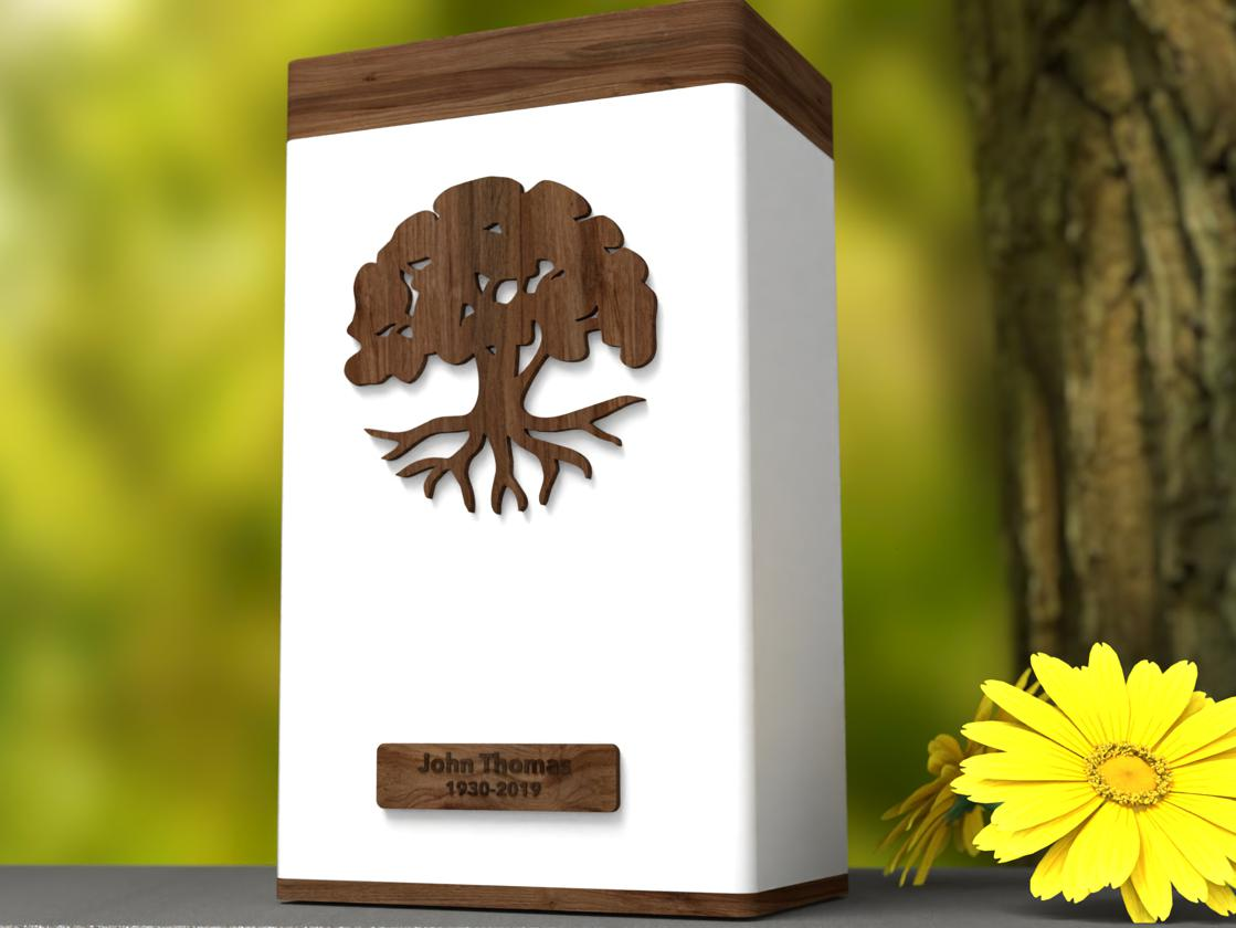 "Photo of Elevation ""Tree of Life"" Urn"