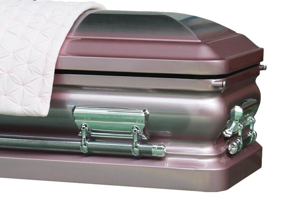 Photo of Orchid Funeral Casket - Metal Casket in Orchid and Silver finish