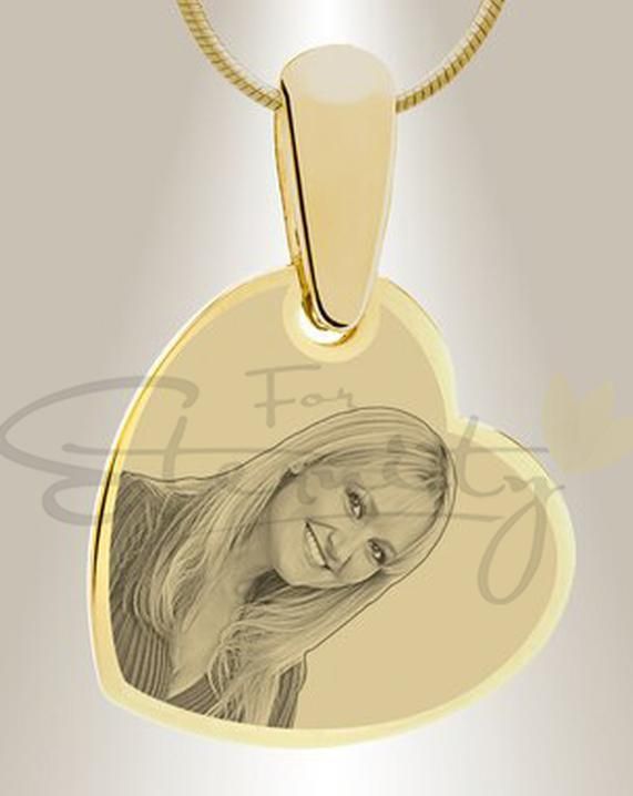 Photo of Photo Engraved Heart-Gold