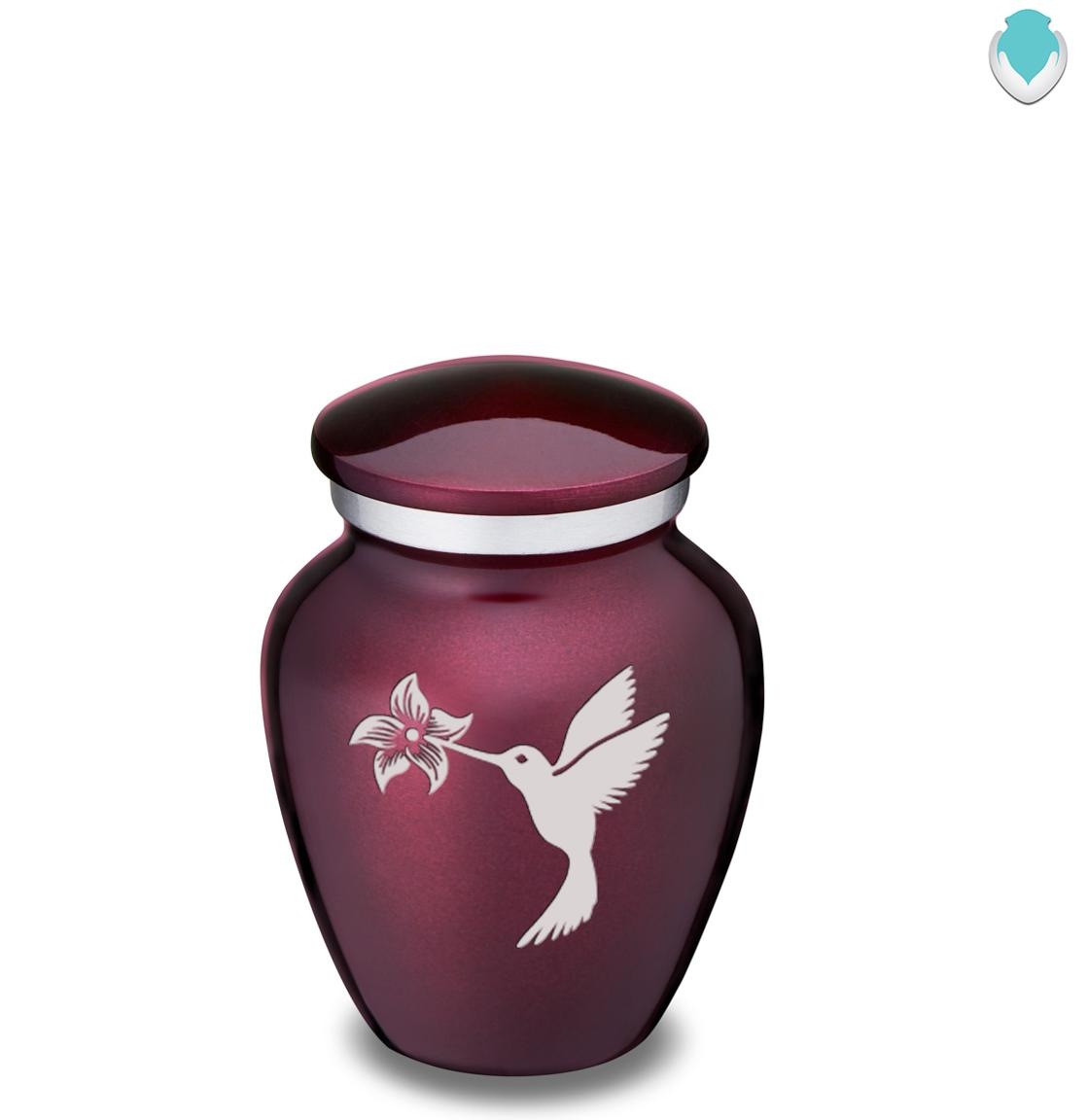 Photo of Keepsake Embrace Cherry Purple Hummingbird Cremation Urn