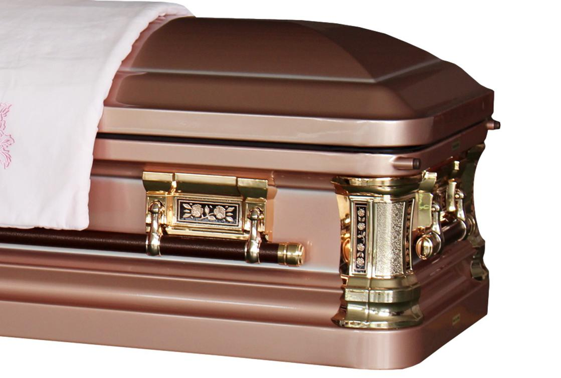 Photo of Silver Rose - Metal Casket in Silver Rose Shade Finish with Pink Interior