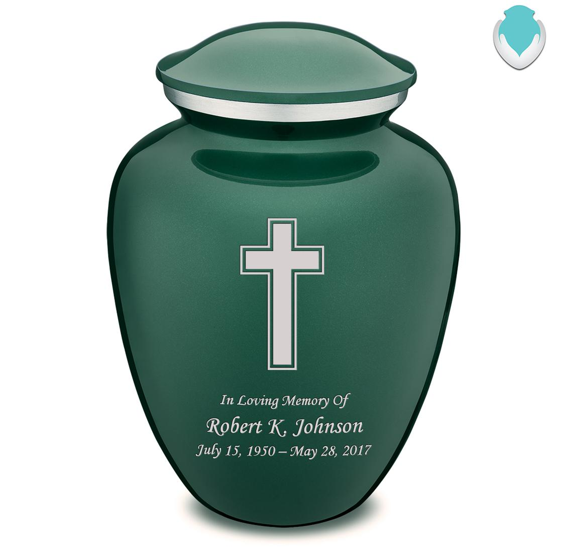 Photo of Adult Embrace Simple Cross Cremation Urn