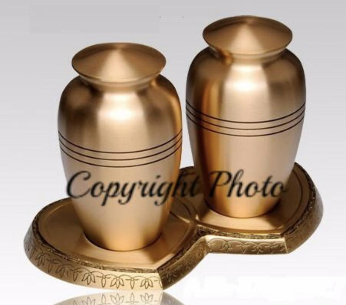 Photo of Classic Gold Companion Cremation Urn
