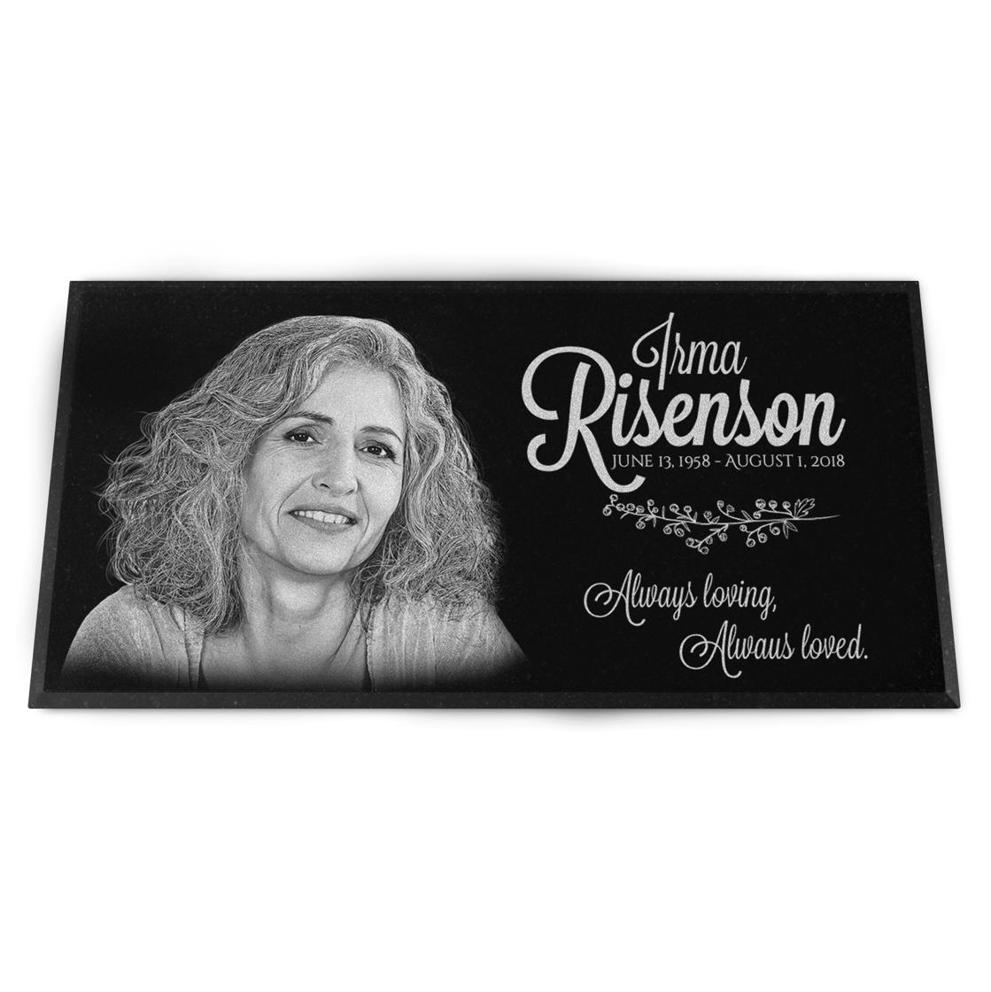 "Photo of 12x6"" Headstone / Grave Marker, Personalized"