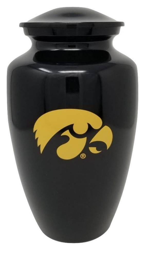Photo of Iowa Hawkeyes NCAA Licensed College Team Cremation Urn, Black