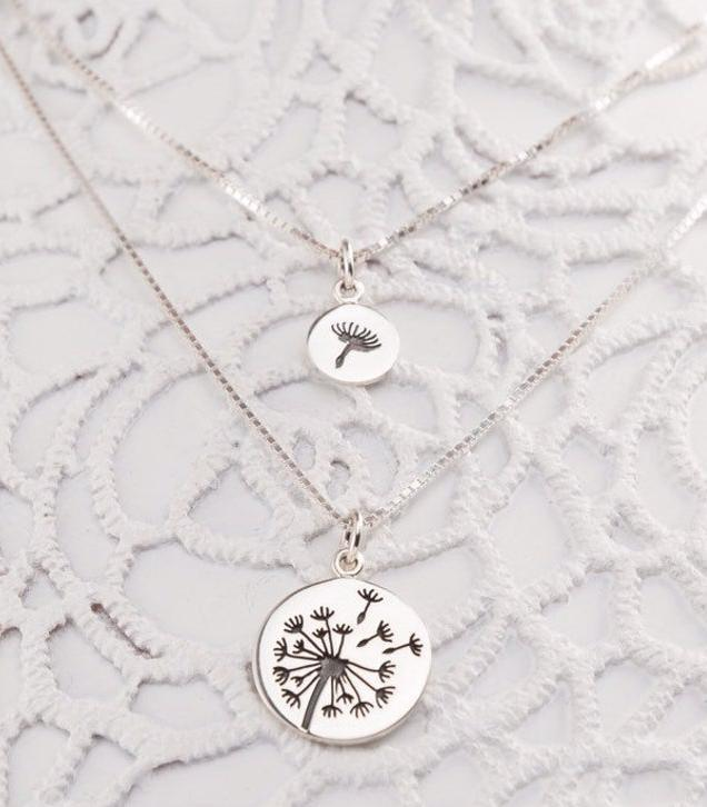 Photo of Mother Daughter Dandelion Necklaces