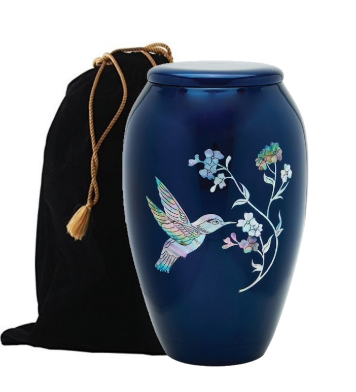 Photo of Hummingbird Mother of Pearl Cremation Urn