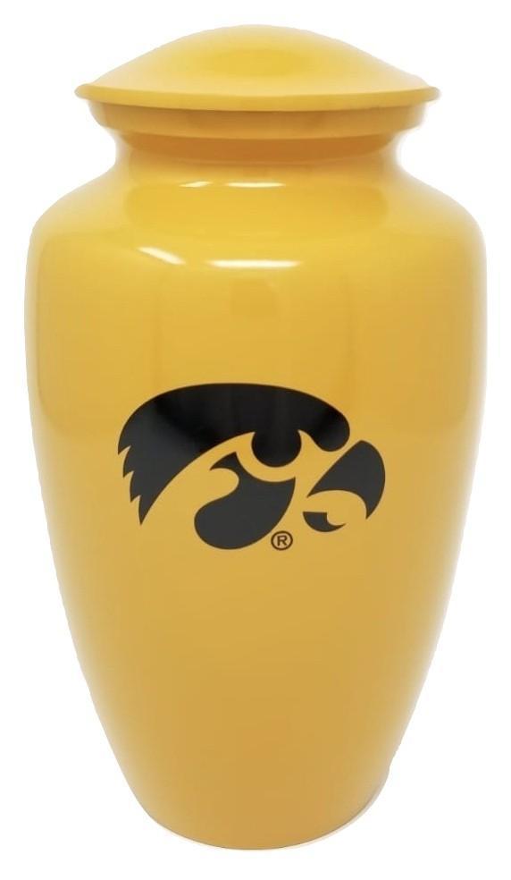 Photo of Iowa Hawkeyes NCAA Licensed College Team Cremation Urn, Yellow