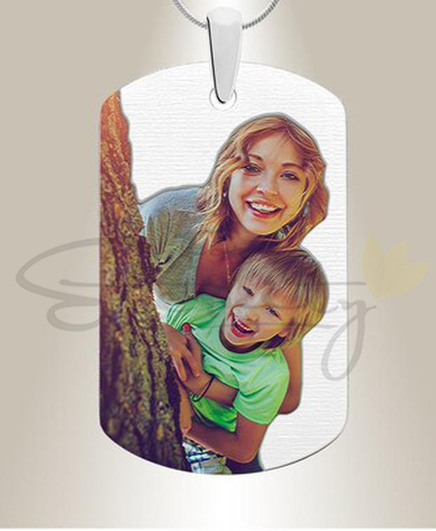 Photo of Full Color Photo Engraved Dog Tag