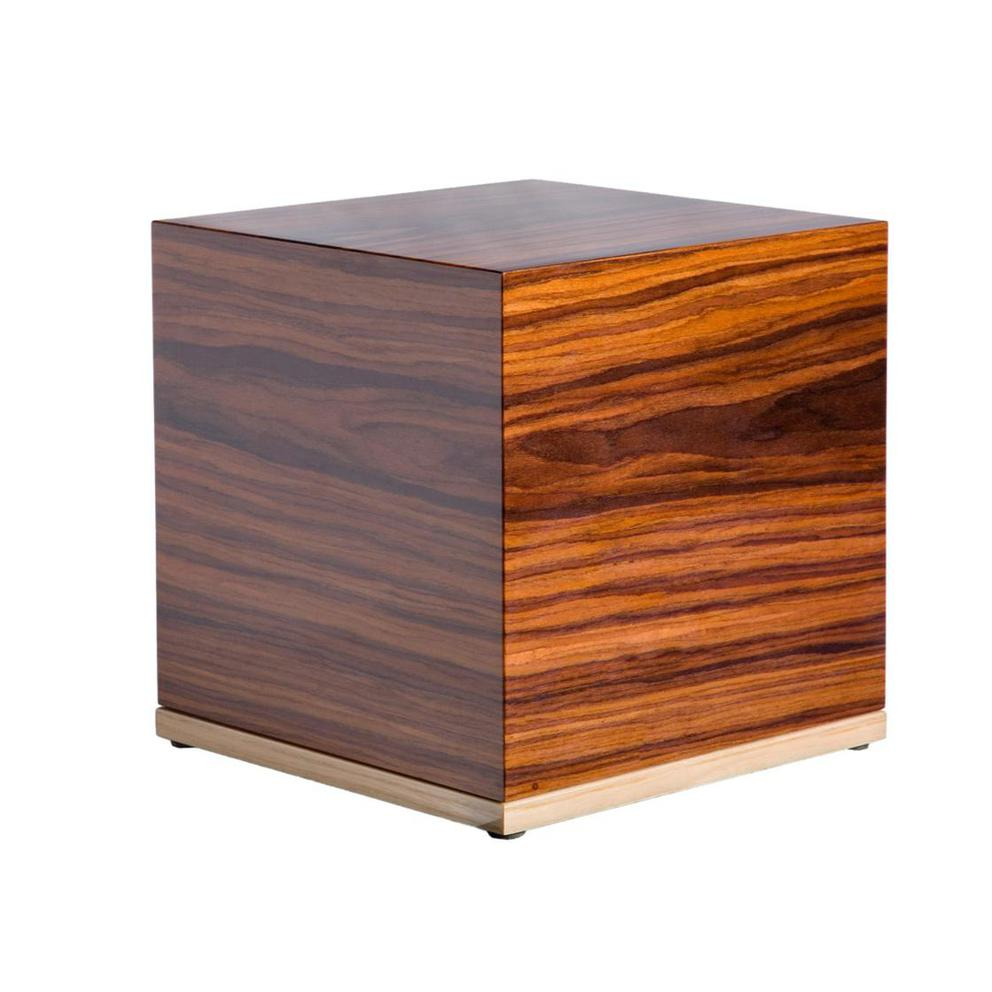 Photo of Modern Wood Urn (Small & Large); Urn for Ashes; Brown Lacquered Wood Urn