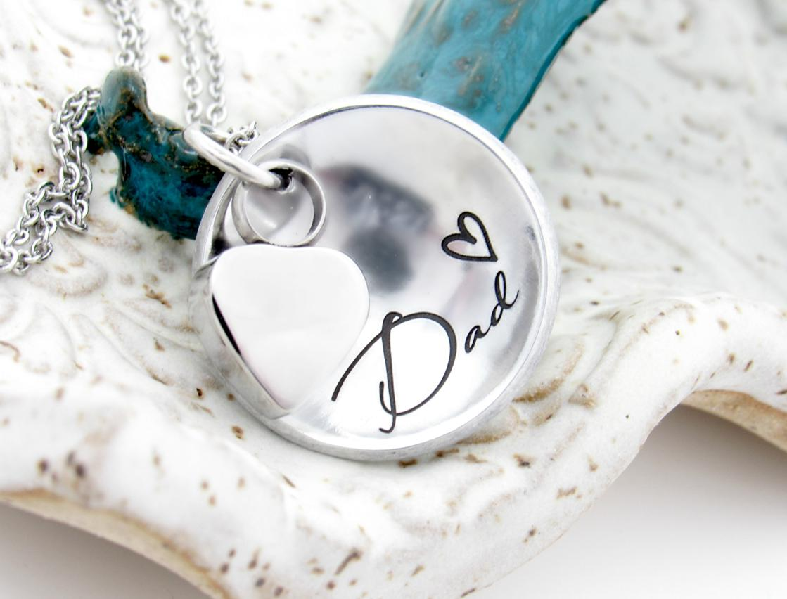 Photo of Personalized Domed Cremation Necklace