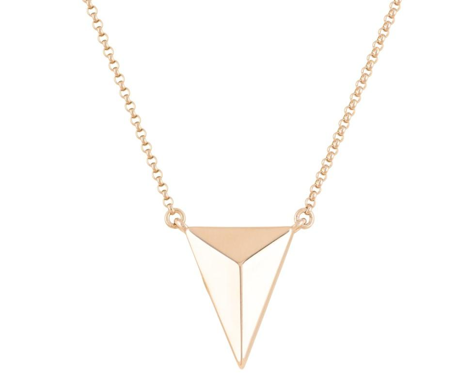 Photo of Pyramid Cremation Necklace - 18K Gold Plated / Made of Sterling Silver