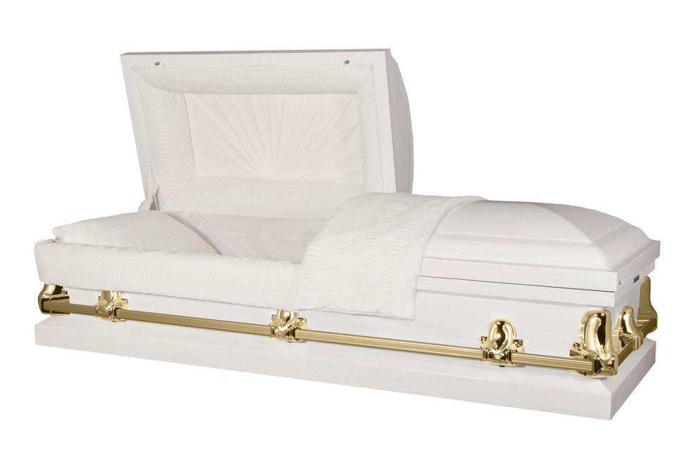 Photo of Titan Orion Series | White & Gold Steel Casket