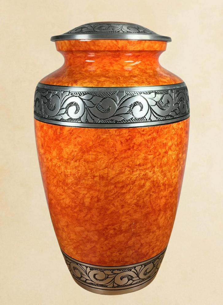 Photo of Rust Orange Adult Urn