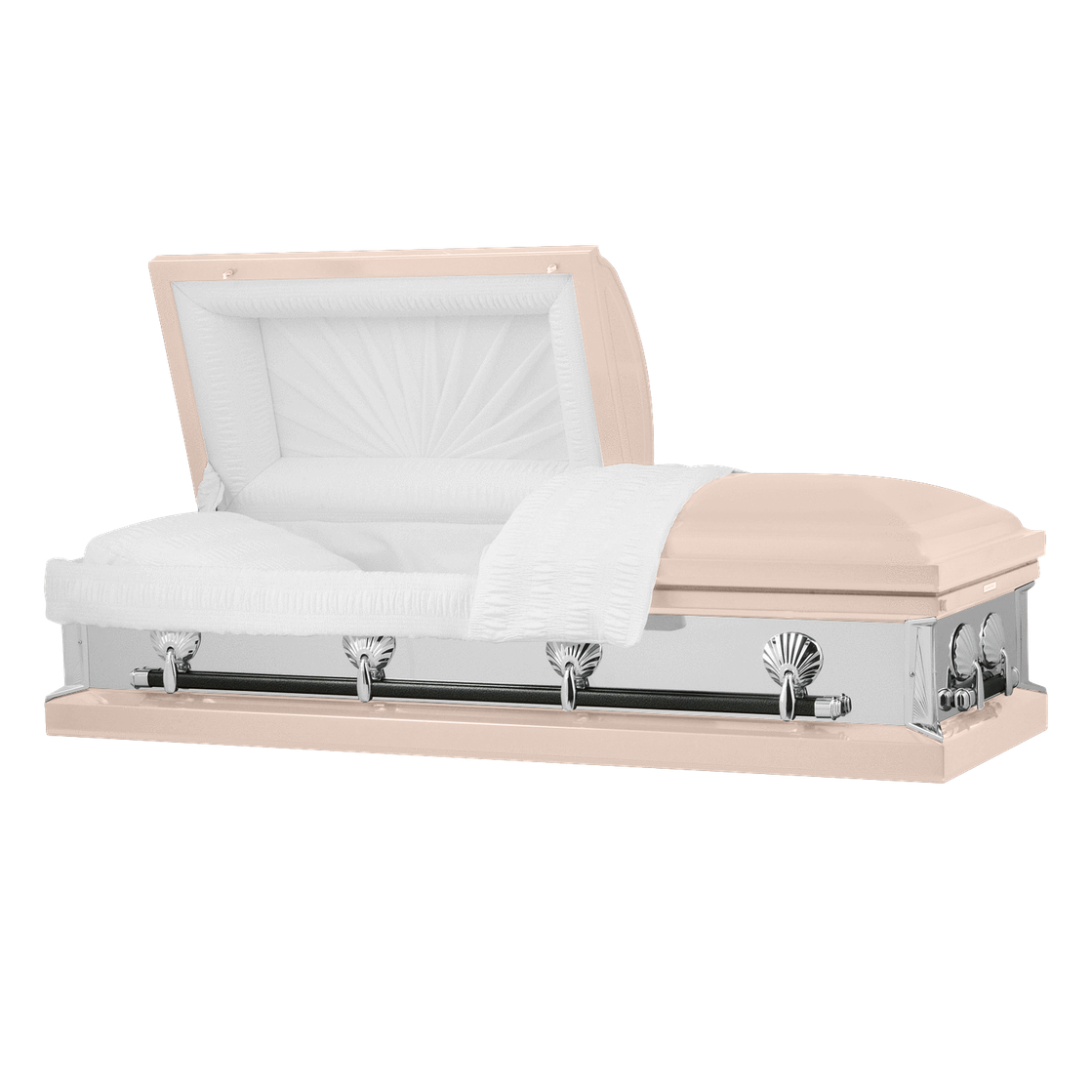 Photo of Titan Reflections Series   Pink Steel Casket with White Interior