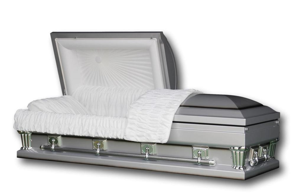 "Photo of Oversized Casket Adams Silver 28"" - Silver Finish"