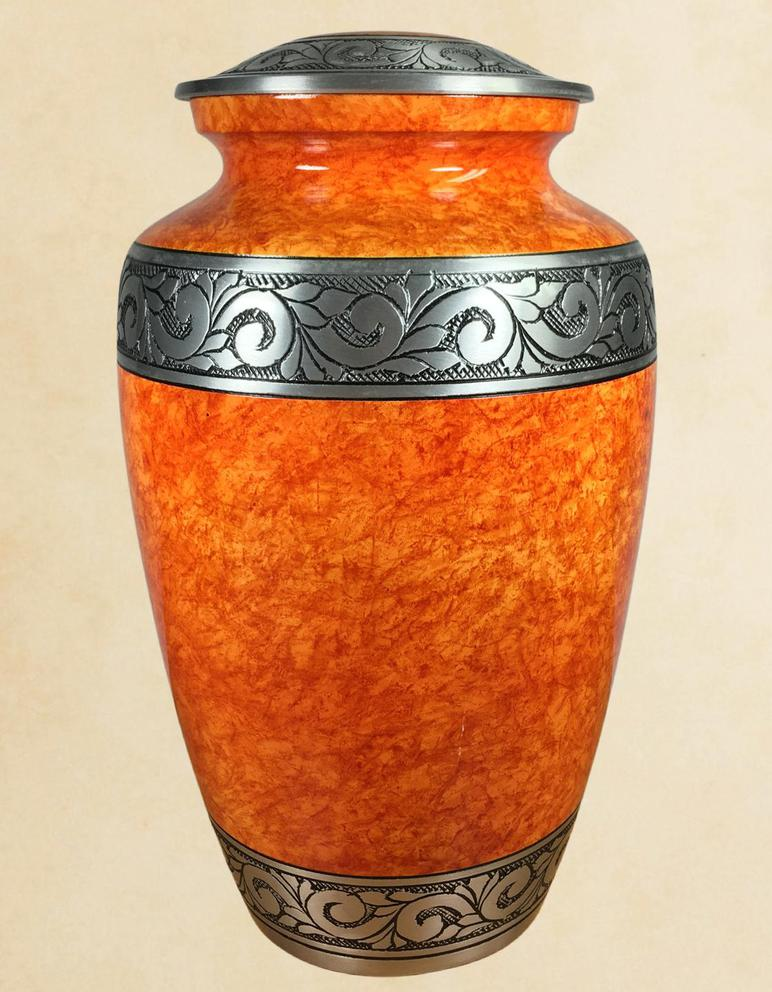 Photo of Rust Orange Adult Urn