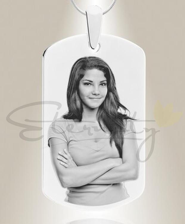 Photo of Photo Engraved Military Tag-Silver