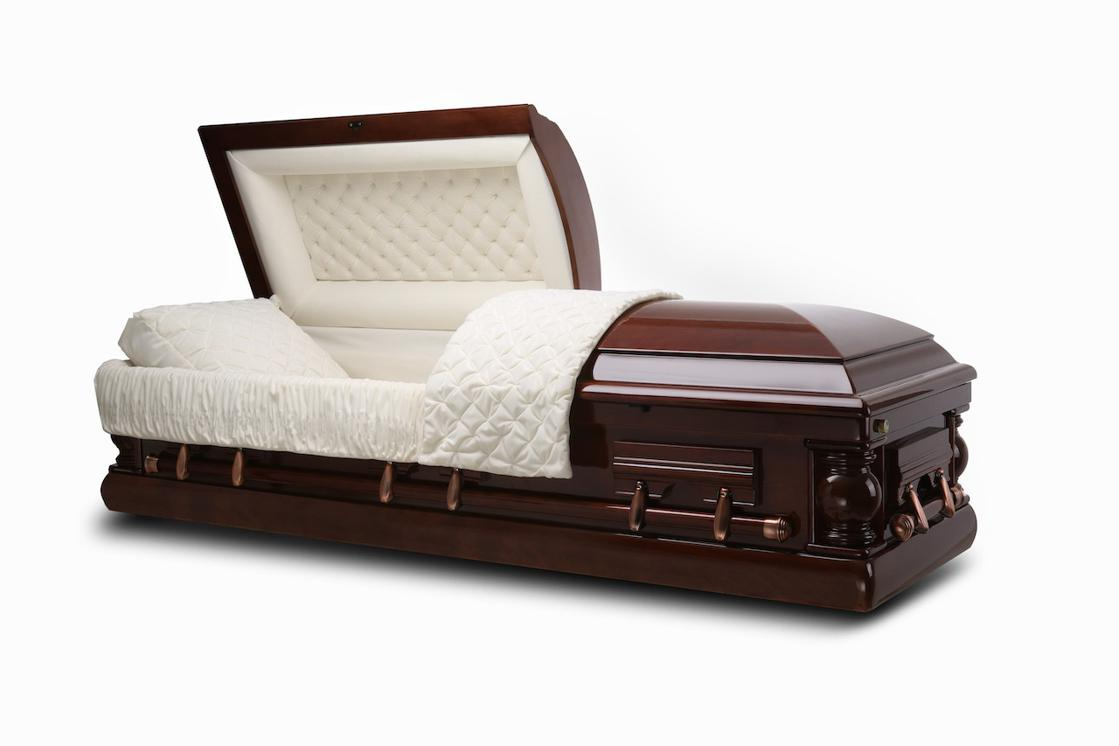 Photo of Washington - Wood Casket in Cherry finish with Ivory Interior