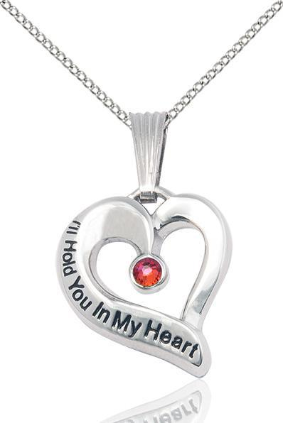 Photo of I'll Hold You In My Heart - Sterling Necklace With Birthstone