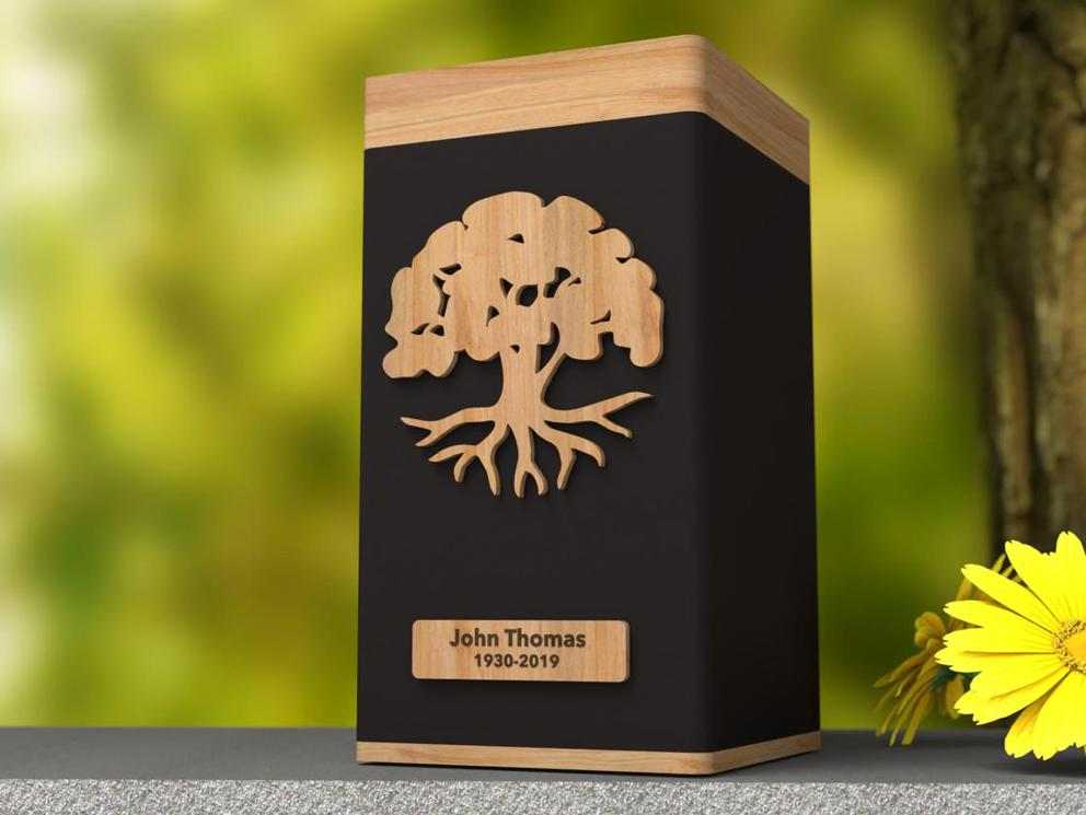 "Photo of Biography ""Tree of Life"" Modern Urn"