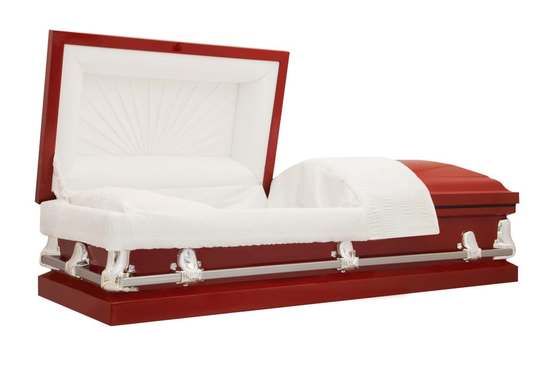 Photo of Titan Orion Series | Red Steel Casket