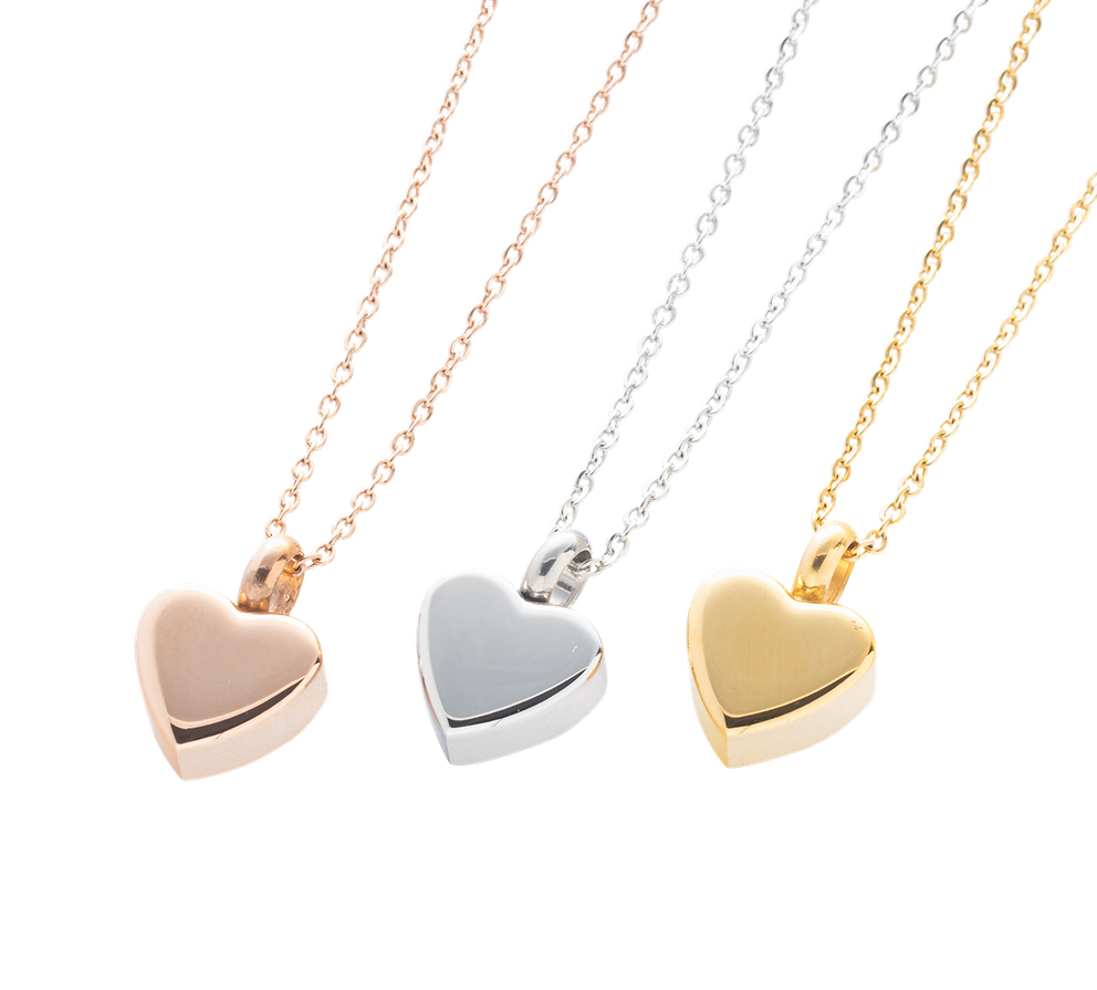 Photo of Heart Cremation Necklace