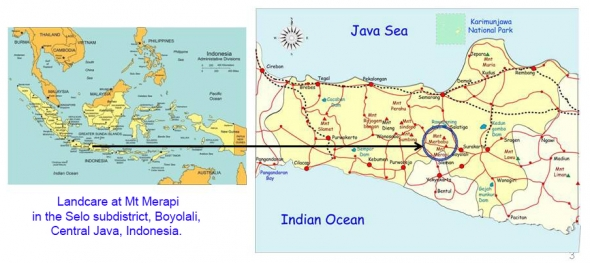 Map of project location in Central Java