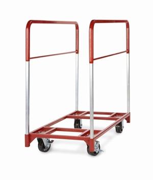 raymond narrow round folding table cart 5 x 2 phenolic casters