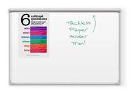 Dura-Rite® Whiteboard 20 Yr Ultra Brite Tackless Paper Holder