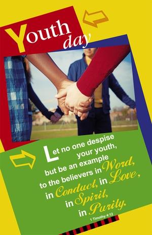 Youth Day Bulletin Letter Size Church Partner